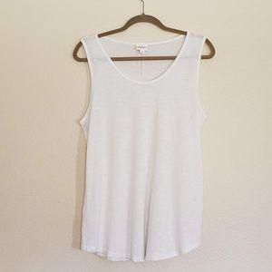 LuLaRoe White Sleeveless Top